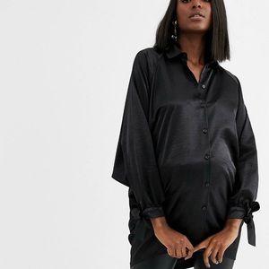 ASOS Maternity Oversized Black Blouse
